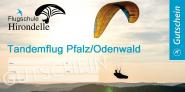 Gutschein Tandemflug Pfalz oder Odenwald